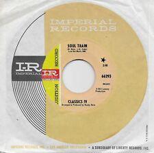 DENNIS YOST & THE CLASSICS IV  Soul Train / Strange Changes  rare promo 45