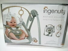 Ingenuity Boutique Collection Swing 'n Go Portable Swing, Bella Teddy