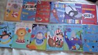 Pack 12 assorted boys youth teenager  Happy Birthday Greeting Cards Open Design