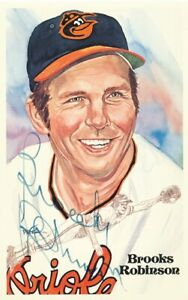 1983 Perez-Steele HOF Celebration Baltimore Orioles Brooks Robinson autograph