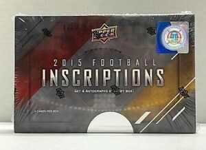 2015 Upper Deck Inscriptions Football Factory Sealed Hobby Box Marcus Mariota RC