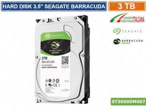 HD HARD DISK 3TB SATA 3 SEAGATE BARRACUDA 64MB ST3000DM007 VIDEOSORVEGLIANZA