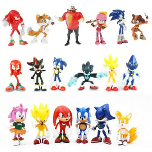 Sonic The Hedgehog Knuckles Shadow 6 PCS Action Figure Collection Kids Xmas Toy