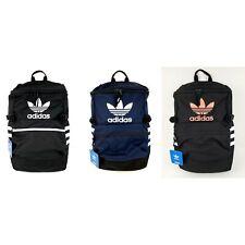 NWT Adidas Originals Classic Zip Top Backpack Trefoil Black or Navy