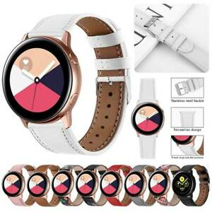 20mm Universal Easy Fit Genuine Leather Wrist Watch Band Replacement Strap Belt