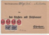 Germany 1922 Frankenstein  Multiple Cancel & official Stamps Cover ref 22951