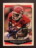 Derrick Alexander Chiefs signed 1999 Upper Deck Victory auto autograph card #126