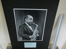 BENNY CARTER AMERICAN JAZZ GREAT SIGNED AUTHENTIC AUTOGRAPH DISPLAY UACC  *2