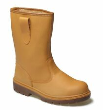 Dickies Rigger Boot, Tan, Steel Toe. Size 8    FA23355