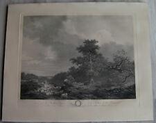 Gravure XVIIIème par J. Mathieu d'après Fragonard etching engraving stampa