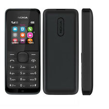 New Boxed Nokia 105 (BLACK) Sim Free To All Networks Cheap Basic Mobile Phone