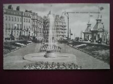 POSTCARD SUSSEX EASTBOURNE - GARDENS & FOUNTAIN