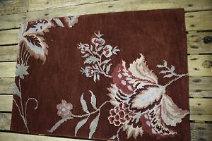 2' X 3' Hand knotted wool blend accent foyer Area rug kitchen bath 2x3
