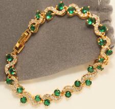14k Yellow Gold Finish 2ct Diamond Tennis Bracelet Brand New Never Worn