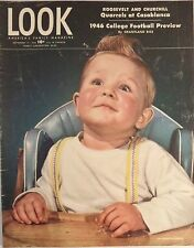 Vtg LOOK Magazine Sept 17 1946 Roosevelt Casablanca Fire Safety Football Condon