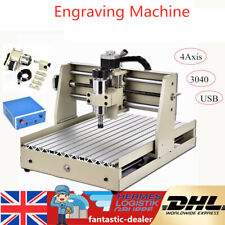 4 Axis 3040 CNC Router Engraver Engraving Milling Wood Cutting Drill Machine USB