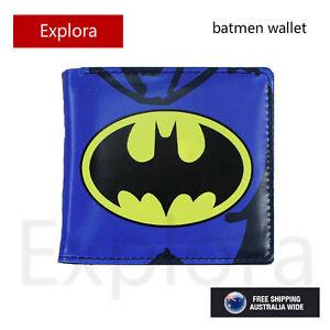 Boys Girls Kids Teenage Bifold PU Leather Wallet -- Batman Logo