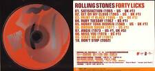 "ROLLING STONES ""Forty Licks Sampler"" Taiwan Promo CD"