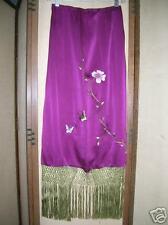 Mandalay Skirt Reversible Silk Eggplant & Mocha 2 Sale