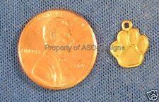 50pc Raw Brass Small Dog Paw Print Charms 4294