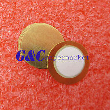 10Pcs 12mm Piezo Elements Sounder Sensor Trigger Drum Disc + Copper