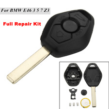 3 Button Diamond Remote Key Case For BMW E46 3 5 7 Z3 Full Repair Kit + Battery