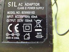 Sil AC Adaptateur BD090015D pour PHILIPS Téléphone Maison Chargeur Pod CD2353S Phillips