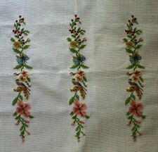 Preworked Butterflies and Flowers Vine Petit Needlepoint Completed Finished