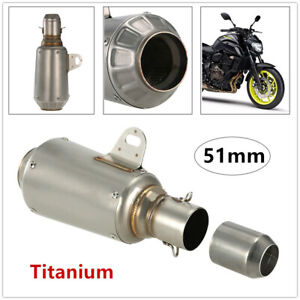 38-51mm Motorcycle Modified Stainless Steel Escape Exhaust Muffler Exhaust Pipe