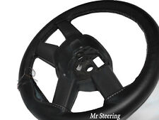 FITS VOLVO FH12 93-98 BLACK ITALIAN LEATHER STEERING WHEEL COVER GREY STITCH NEW