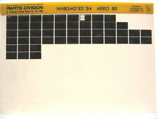 Honda NH80 NH80MD Aero 80 1983 1984 Parts List Catalog Microfiche a499