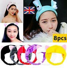 8pcs Women Girl Face Head Bands Mask Head Wrap Hair Band For Spa Bath Shower