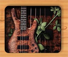 MUSIC INSTRUMENT WOOD BASS ELECTRIC GUITAR MOUSE PAD -okl9Z