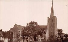 MINSTER IN THANET KENT UK CHURCH SCOTT'S PHOTO SERVICE REAL PHOTO POSTCARD