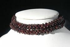 Hermoso Collar Con Granate Piedra Preciosa 12 pulgadas de largo (30 Cm. largo) En Caja