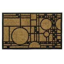 "Frank Lloyd Wright Coonley Playhouse Coir Fiber 36"" x 22"" Doormat"