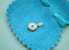 "GOLD PENDANT EVIL EYE 14 K DIAMETER 8 mm (0.31"") WITH MOTHER OF PEARL"