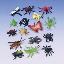 Assorted Color And Design Insect Bug Toys 72 Pieces Colorful Shapes Soft Plastic