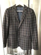 Sisley Men's checked wool blend blazer jacket, Size US 42