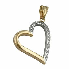Echte Edelmetall-Anhänger ohne Steine aus mehrfarbigem Gold mit Liebe & Herzen
