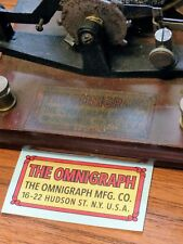 Omnigraph DECAL Wireless Marconi Era Morse Code Testing Telegraphy Sounder Key