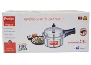 2 Litre Prestige Pressure Cooker Aluminum- Brand New In Box- Pots Indian Cookers