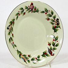 International Bazaar HOLLY & BIRDS 16oz  Soup Bowl(s) Christmas Gold Trim