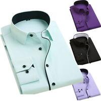 Fashion Mens Casual Botton Down Shirts Long Sleeve Regular Fit Dress Shirts