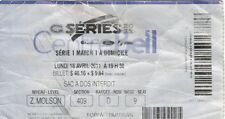 Montreal Canadiens - Boston Bruins 18.04.2011 NHL playoff ticket