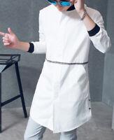 Fashion Men's Japan Style Long Style White Shirt