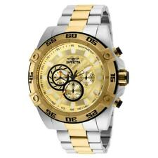 Invicta Speedway 25537 Men's Two-Tone Chronograph Gold Tone Dial Watch