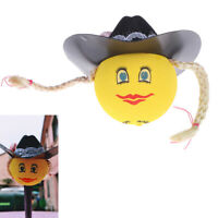 1Pc Lovely hat girls car antenna pen topper aerial eva ball decor toy ornamentSI