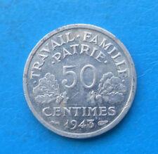 50 centimes Bazor 1943 B , RARE + TRES BELLE QUALITE !