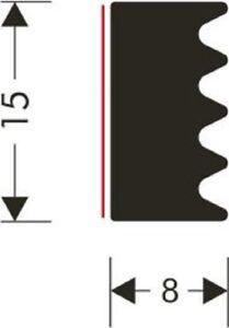 Verglasungsdichtung selbstklebend 15x8mm VD-659 40 Meter Rolle schwarz